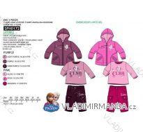 Set zimní bunda, tričko dlouhý rukáv a tepláky frozen kojenecký a dětský dívčí (6m-4 roky) SUN CITY APH0172