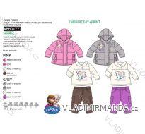 Set zimní bunda, tričko dlouhý rukáv a tepláky frozen kojenecký a dětský dívčí (6m-4 roky) SUN CITY APH0177