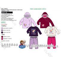 Set zimní bunda, tričko dlouhý rukáv a tepláky frozen kojenecký a dětský dívčí (6m-4 roky) SUN CITY APH0178