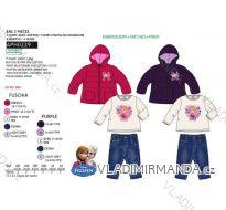 Set zimní bunda, tričko dlouhý rukáv a tepláky frozen kojenecký a dětský dívčí (6m-4 roky) SUN CITY APH0229
