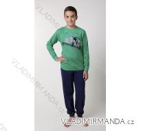 Pyžamo dlouhé dorostenecké chlapecké bavlněné (140-160) CALVI 16-445
