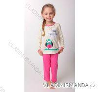 Pyžamo dlouhé  nohavice dětské dívčí (110-130) CALVI 14-526