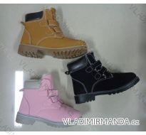 Kotníková zimní obuv koženková zateplená kožíškem dětská (28-35) CAMO OBUV 3061-3