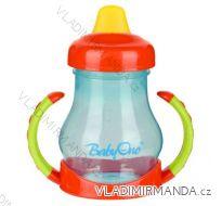 Netekoucí hrnek Babyono s měkký náústníkem - 180ml, BPA free, 6m+. 207