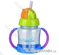 Hrnek s brčkem Babyono - BPA free, 180ml, 6m+. 209