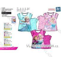 Tričko krátký rukáv frozen dětské dívčí bavlněné (4-8 let) SUN CITY ER1124