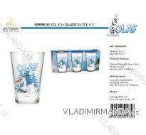 SKLENICE SKLENĚNÉ OLAF DĚTSKÉ (3 KS) SUN CITY OLA101577