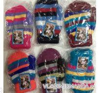 Rukavice palčáky teplé kojenecké dívčí a chlapecké (6-12 měs) MADE IN CHINA PV117109