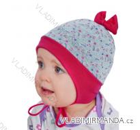 Čepice jarní podzimní slabá kojenecká dívčí (44-46) YO! CDA-096