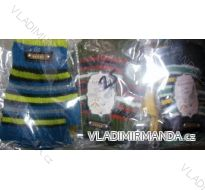 Rukavice prstové bezšpiček teplé dětské dívčí a chlapecké pletené (uni) GENTLE G001