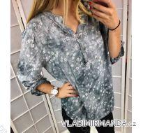 Tunika košilová unika  3/4,dlouhý rukáv dámské  (uni s-l) ITALSKá MODA IM4185893