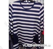 Šaty tunika dlouhý rukáv proužek dámské (48-52) POLSKá MóDA PM118184