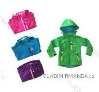 Bunda softshell zateplená s fleecem kojenecká dětská dívčí a chlapecká (86-110) KUGO B5502A