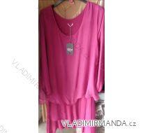 Šaty 3/4 dlouhý rukáv dámské  (UNI S-L) ITALSKÁ MÓDA IM518250