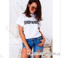 Tričko shopaholic krátký rukáv  dámské(uni s-l)  IMT18720
