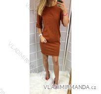Šaty 3/4 dlouhý rukáv dámské (uni s-l) ITALSKá MóDA IMC181233