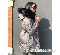 Kabát zimní parka s kožíškem dámský (s-l) KZELL ITALSKá MODA 8035K-D