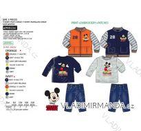 Souprava tričko dl.rukáv, mikina a kalhoty mickey mouse kojenecká chlapecká (6-24 měsíců) SUN CITY APH0224