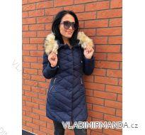 Kabát zimní s kožíškem dámský prošívaný (s-m-l-xl-2xl) MFASHION MF188867