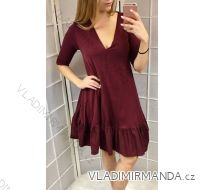 Šaty dlouhý rukáv dámský (UNI S-XL) ITALSKÁ MÓDA IM518270