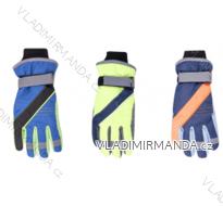 Rukavice prstové lyžařské dětské dorost chlapecké (22cm) YOCLUB POLSKO RN-040