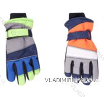 Rukavice prstové lyžařské dětské dorost chlapecké (20cm) YOCLUB POLSKO RN-041