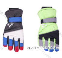Rukavice prstové lyžařské dětské dorost chlapecké (24cm) YOCLUB POLSKO RN-042