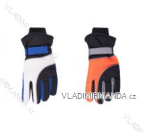 Rukavice prstové lyžařské dětské dorost chlapecké (22cm) YOCLUB POLSKO RN-043