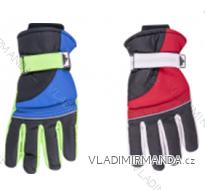 Rukavice prstové lyžařské dětské dorost chlapecké (26cm) YOCLUB POLSKO RN-044