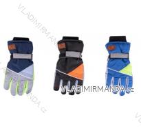 Rukavice prstové lyžařské dětské dorost chlapecké (24cm) YOCLUB POLSKO RN-045