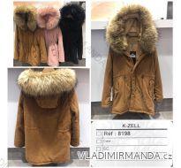 Kabát zimní parka manšestrová s kožíškem dámský (s-l) KZELL ITALSKá MODA 8198K