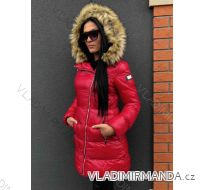 Kabát zimní s kožíškem dámský prošívaný (s-m-l) MFASHION MF18119A