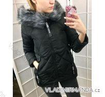Bunda zimní prošívaná s kožíškem dámská (s-l) POLSKO IM1018T2662P