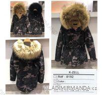 Kabát zimní parka maskáč s kožíškem dámský (s-l) KZELL ITALSKá MODA 8192K