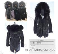 Kabát zimní Parka semišová s kožíškem dámský (S-L) KZELL ITALSKÁ MODA 8118K