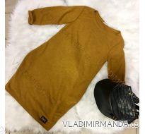 Šaty teplé dlouhý rukáv dámské (uni s-l) ITALSKá MóDA IMC181102