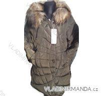 Bunda zimní prošívaná s kožíškem dámská (s-2xl) POLSKO IM1018W703
