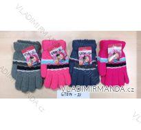 Rukavice prstové dětské dívčí (16-18cm) POLSKO PV118GTEN-21