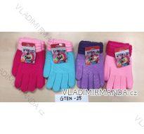 Rukavice prstové dětské dívčí (16-18cm) POLSKO PV118GTEN-25