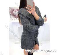 Cardigan pletený teplý dámský (uni s-l) ITALSKá MóDA IM418904