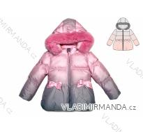 Bunda zimní prošívaná s kožíškem kojenecká dětská dívčí (1-5let)  KUGO JK1801