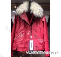 Bunda zimní koženka s kožešinou dámská (s-2xl) EMT-ALNWICK EMT18023