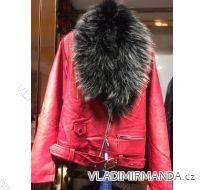 Bunda zimní koženka s kožešinou dámská (s-2xl) EMT-ALNWICK EMT18025