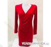 Šaty elegantní společenské s dlouhým rukávem  dámské (s-2xl) METROFIVE MET188988