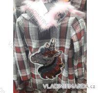 Mikina s kapucí teplá dětská dorost dívčí (4-14let) TURECKá MóDA TM218202