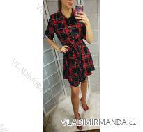 Šaty košilové dlouhý rukáv dámské kostkované (uni s-l) ITALSKá MóDA IMT179260