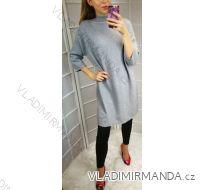 Šaty úpletové dámské (UNI S-L) ITALSKÁ MÓDA IM518800