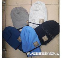 Čepice pletená zimní dětská dorost chlapecká polská výroba PV718019