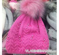 Čepice zimní s perličkami dětská dorost dívčí (9-16let) Polsko PV318153