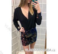 Šaty elegantní dámské s flitry (uni s/m) Italská Moda IMT18627